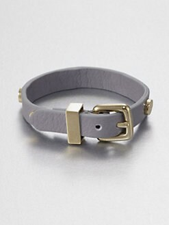 Marc by Marc Jacobs - Studded Leather Bracelet/Storm