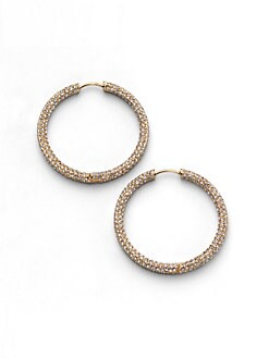 Adriana Orsini - Pave Hoop Earrings/1.25
