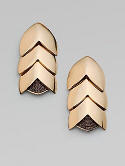 Giles & Brother - Smokey Quartz Accented Tiered Earrings