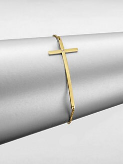 Jennifer Zeuner Jewelry - Diamond-Accented Cross Bracelet