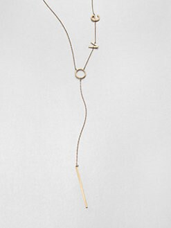 Jennifer Zeuner Jewelry - Love Lariat Necklace