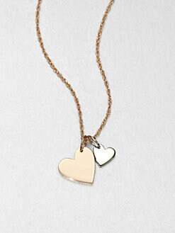 Jennifer Zeuner Jewelry - Sterling Silver Double Heart Necklace