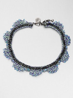 Venessa Arizaga - Stella Blue Beaded Necklace