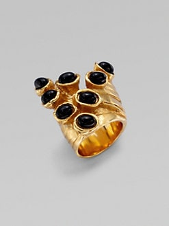 Saint Laurent - Goldtone Artsy Dot Ring