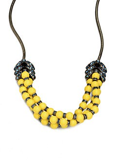 Giles & Brother - Long Garland Crystal & Bead Necklace