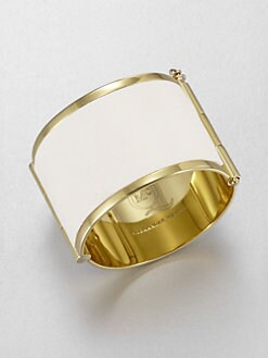 McQ Alexander McQueen - Leather Inset Cuff Bracelet