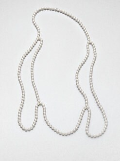 Maison Martin Margiela - Faux Pearl Over-the-Shoulder Necklace