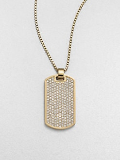Michael Kors - Dual-Sided Dog Tag Pendant Necklace