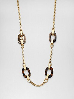 Michael Kors - Tortoise Print Link Necklace