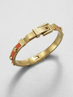 Michael Kors - Studded Leather Inset Bangle Bracelet
