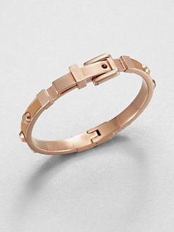 Michael Kors - Studded Leather Inset Bangle Bracelet/Tan