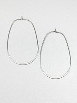 Michael Kors - Stainless Steel Oval Hoop Earrings