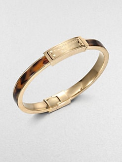 Michael Kors - Tortoise Epoxy Goldtone Steel Bangle