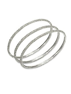 ABS by Allen Schwartz Jewelry - Pavé Bangle Bracelet Set
