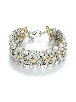 ABS by Allen Schwartz Jewelry - Faceted Stitched Chain Link Bracelet