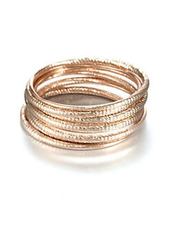 ABS by Allen Schwartz Jewelry - Textured Bangle Bracelet Set