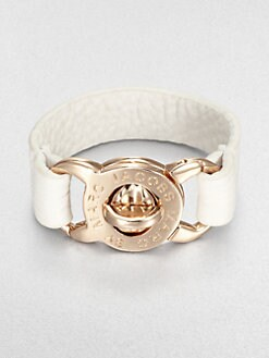 Marc by Marc Jacobs - Turnlock Leather Bracelet/White