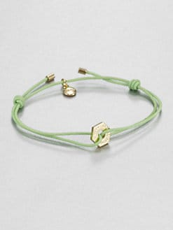 Marc by Marc Jacobs - Knot-and-Bolt Friendship Bracelet/Gold Charm