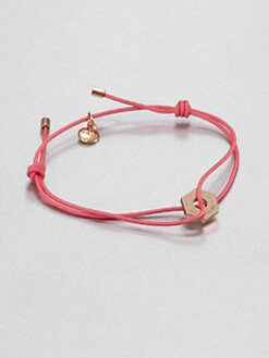 Marc by Marc Jacobs - Knot-and-Bolt Friendship Bracelet/Rose Gold Charm
