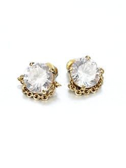 ABS by Allen Schwartz Jewelry - Chain Wrapped Stud Earrings
