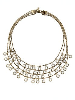ABS by Allen Schwartz Jewelry - Faceted Multi-Row Bib Necklace