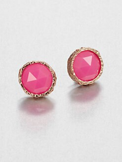 Marc by Marc Jacobs - Large Faceted Studs/Pink