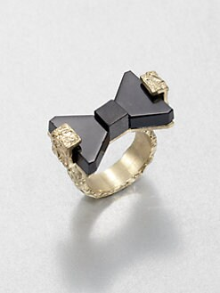 Marc by Marc Jacobs - Bownanza Resin Bow Ring/Black