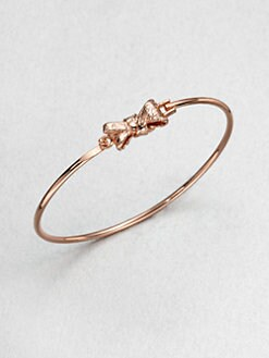 Marc by Marc Jacobs - Tiny Bow Bangle Bracelet/Rose Goldtone