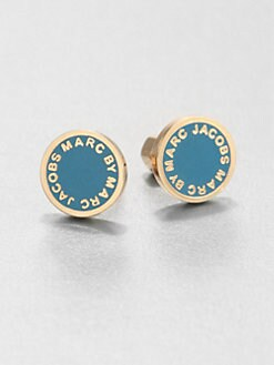 Marc by Marc Jacobs - Enamel Logo Stud Earrings/Turquoise