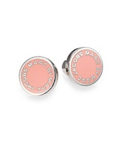 Marc by Marc Jacobs - Enamel Logo Stud Earrings