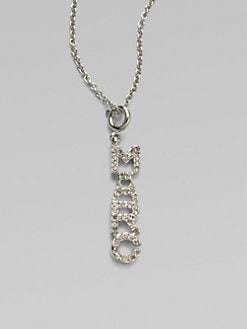 Marc by Marc Jacobs - Pave Marc Charm Pendant Necklace
