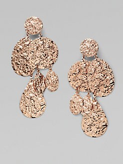 Oscar de la Renta - Asymmetrical Textured Drop Earrings
