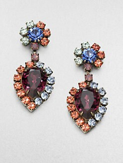 DANNIJO - Faceted Rainbow Drop Earrings