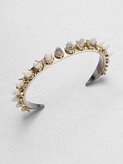 A.L.C. - Howlite-Spiked Bracelet