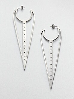 A.L.C. - Elongated Hoop Earrings