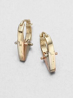 A.L.C. - Tricolor Pointed Huggie Hoop Earrings