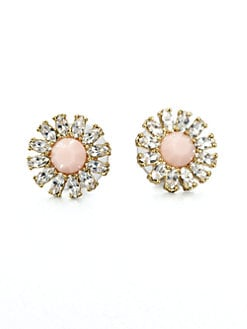 Kate Spade New York - Faceted Floral Button Earrings