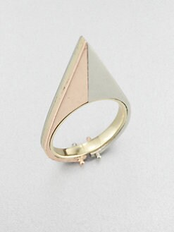 A.L.C. - 14K Yellow and Rose Gold Triangle Ring