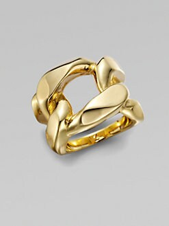 Michael Kors - Structured Chain Link Ring/Goldtone