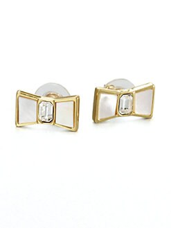 Kate Spade New York - Mother-Of-Pearl Bow Button Earrings
