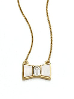 Kate Spade New York - Mother-Of-Pearl Bow Pendant Necklace
