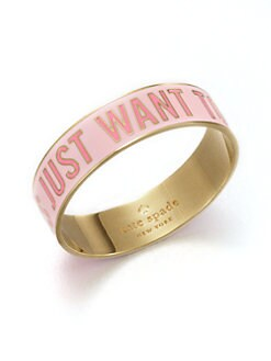 Kate Spade New York - Girls Just Want To Have Fun Bangle Bracelet
