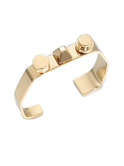 Saint Laurent - 3 Clous Asymetrical Goldtone Cuff Bracelet