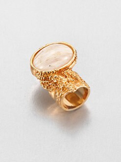 Saint Laurent - Arty Printed Goldtone Ring