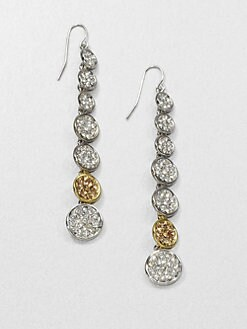 ABS by Allen Schwartz Jewelry - Linear Pavé Disc Drop Earrings