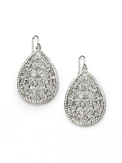 ABS by Allen Schwartz Jewelry - Pav&#233; Openwork Teardrop Earrings