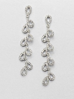ABS by Allen Schwartz Jewelry - Pavé Cascade Teardrop Earrings