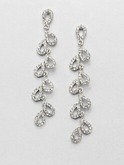 ABS by Allen Schwartz Jewelry - Pav&eacute; Cascade Teardrop Earrings