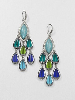 ABS by Allen Schwartz Jewelry - Multicolor Chandelier Earrings