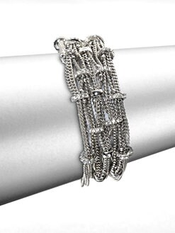 ABS by Allen Schwartz Jewelry - Pav&#233; Rondelle Link Chain Bracelet
